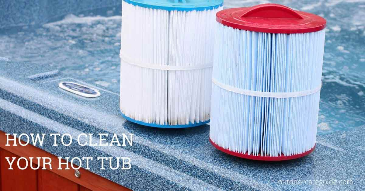 drain your hot tub for cleaning