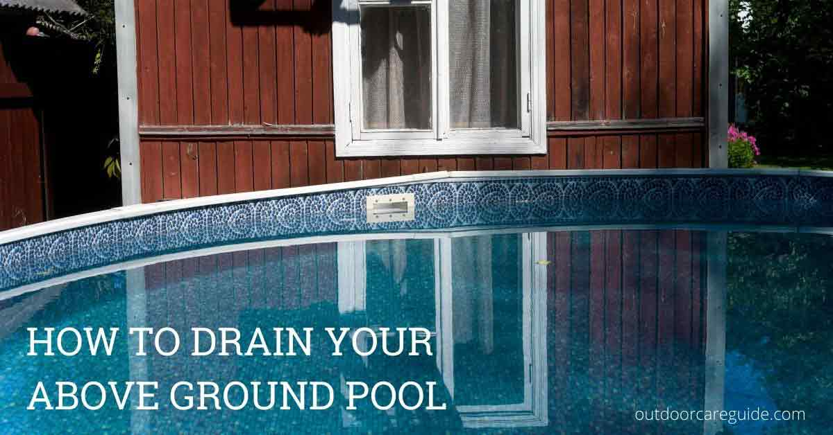 drain above ground swimming pool