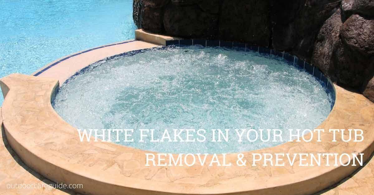 white flakes in hot tub spa