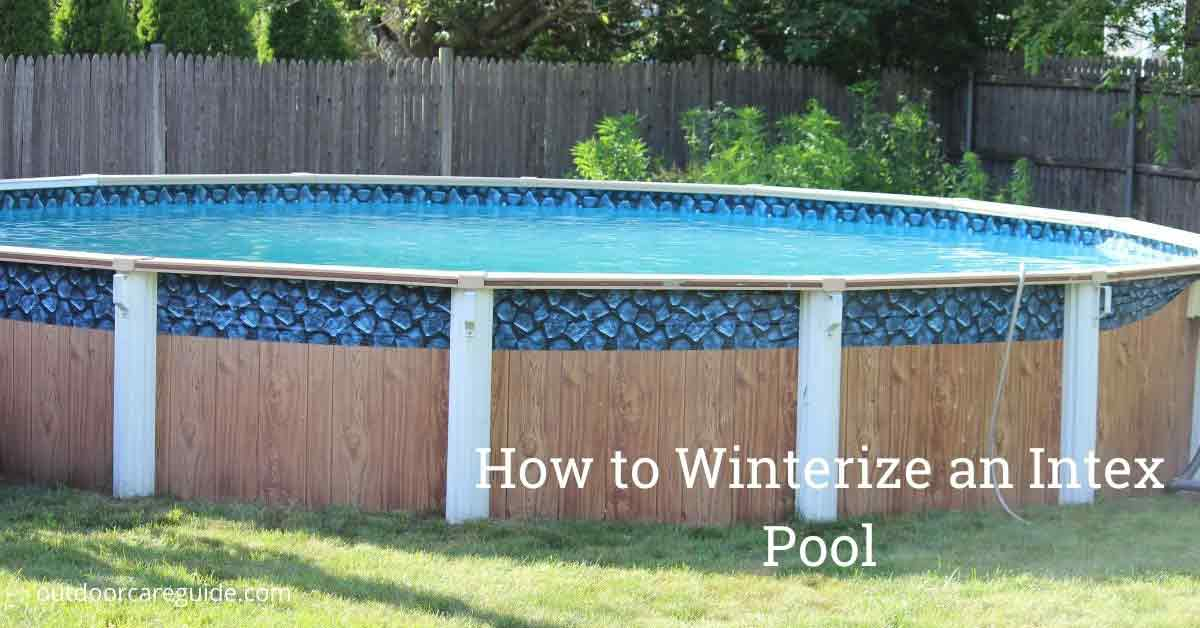 winterizing an intex pool