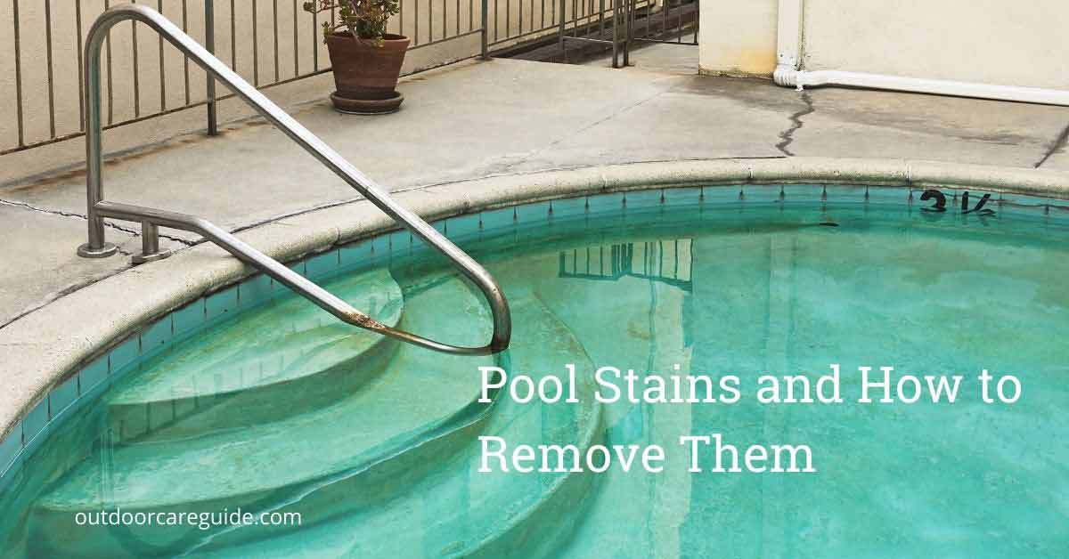 how to remove pool stains